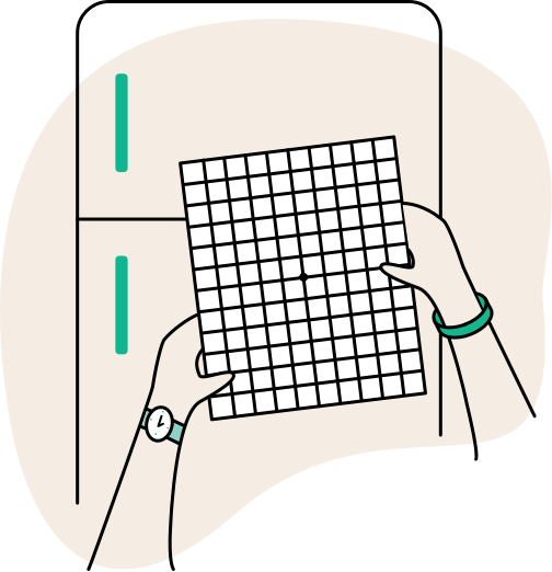 Download the Amsler Grid to help you monitor changes in your vision at home.